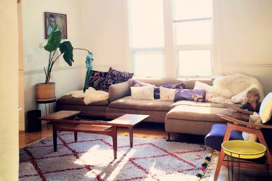 Berber rug in lovely house in San Francisco