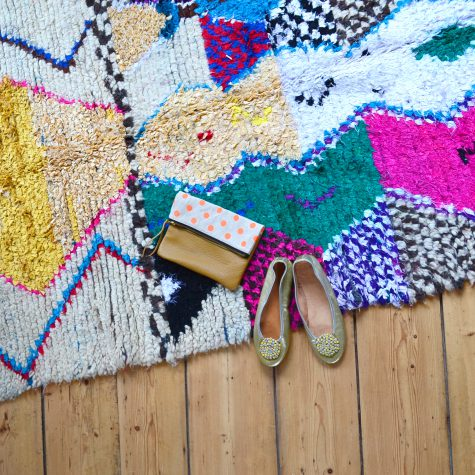 Vintage Boucherouite rug in our own house in Amsterdam