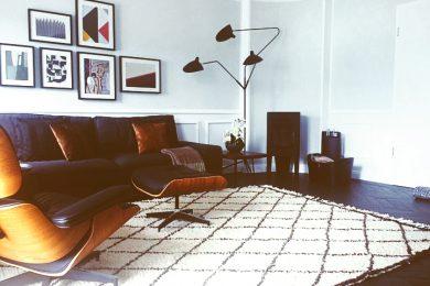 Classic berber rug in beautifully designed apartment in Tegernsee, Austria