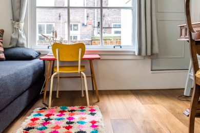 our 'logo rug' in our own house in Amsterdam