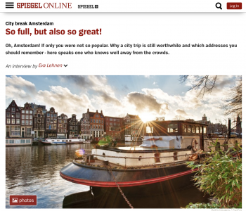 Interview about Amsterdam on 'Spiegel Online'