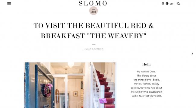 Article on the blog SLOMO by Okka Rohd
